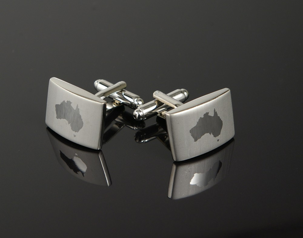 Australia Etched Cufflinks
