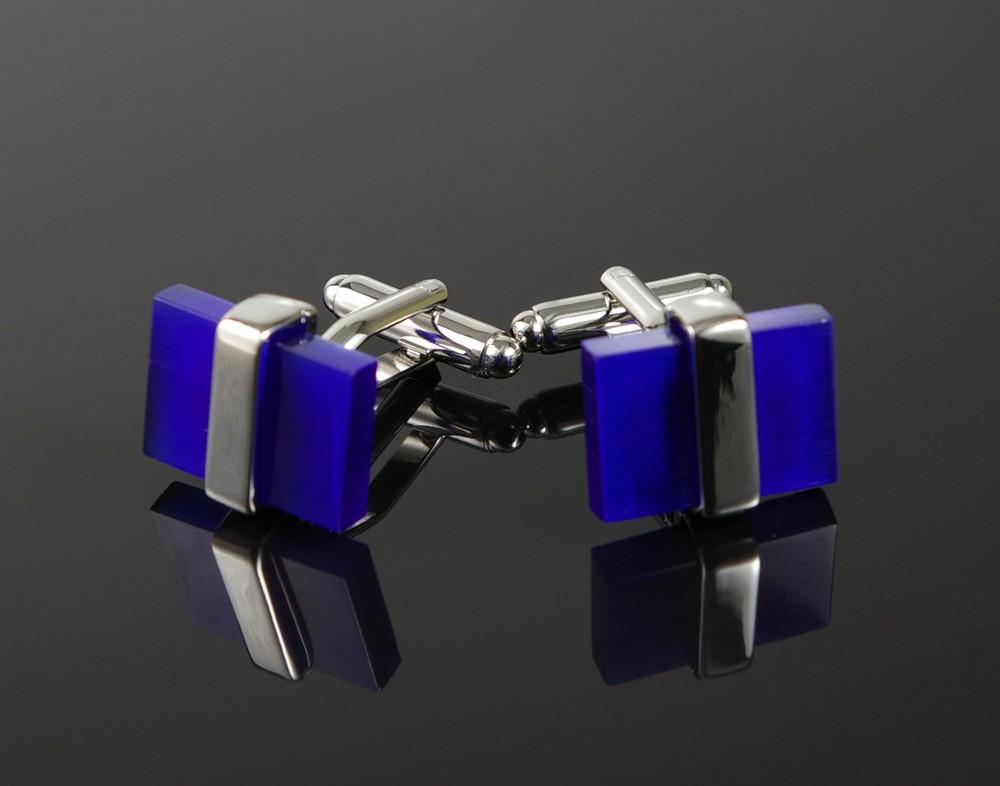 Banded Blue Cufflinks