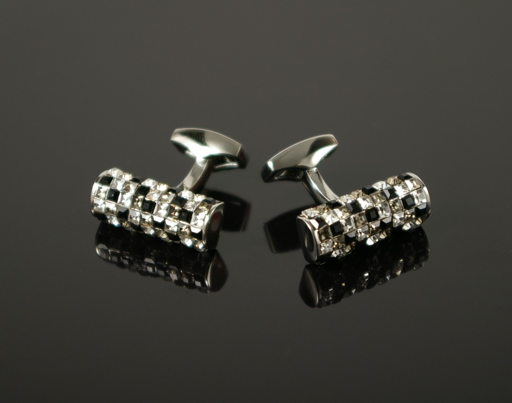 Black and White Crystal Cufflinks