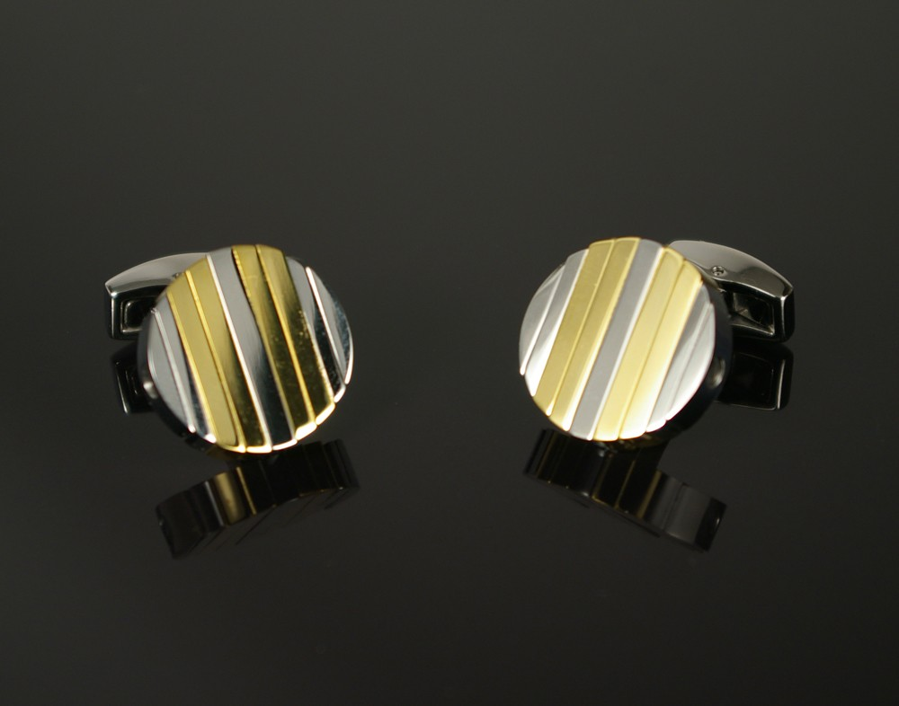 Turning Cufflinks in Silver and Gold