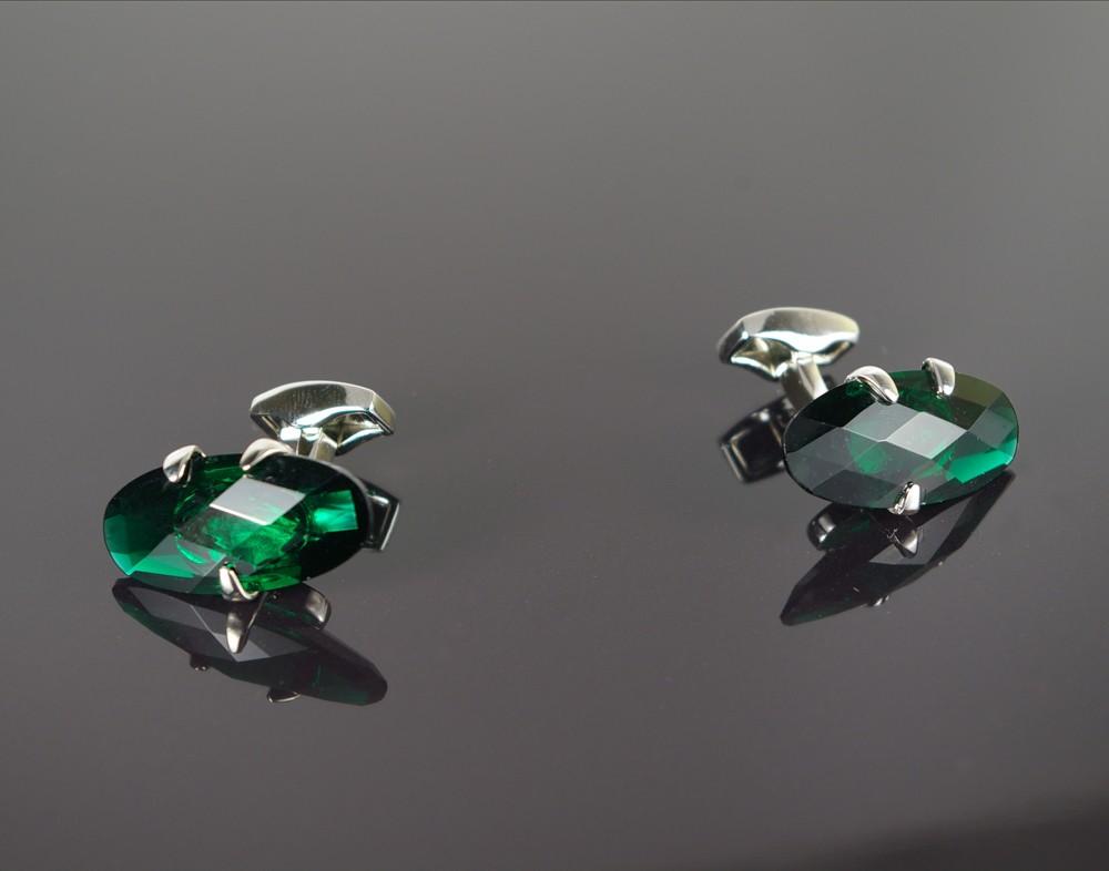 Emerald Glass Cufflinks