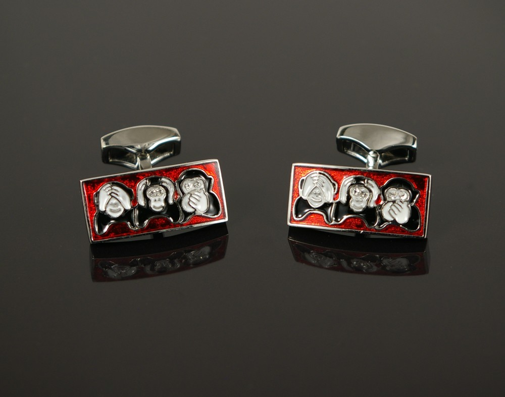 Three Wise Monkeys Cufflinks