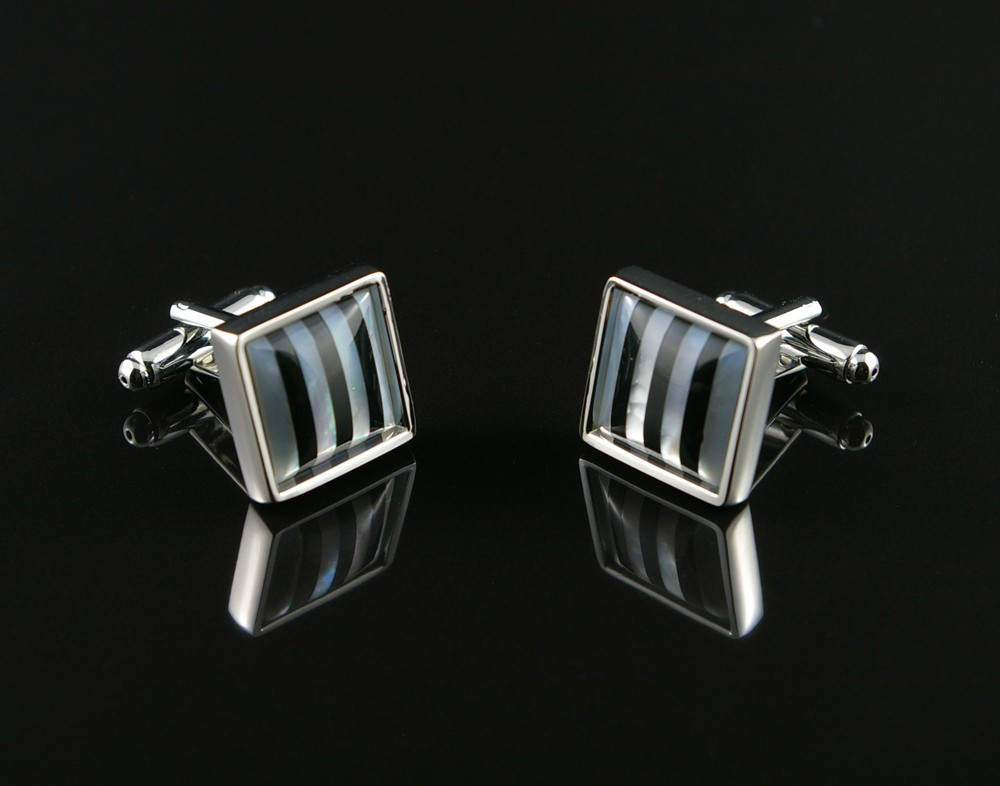 Striped Shell Cufflinks