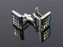 Blue Squares on Silver
