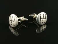 Silver Gear Shift Cufflinks
