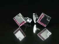 Square with Pink Crystals