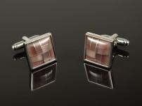 Pink Cateye Mosaic Cufflinks