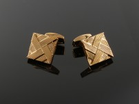 Rose Gold Plated Square Cufflinks